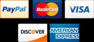 paypal mastercard visa discover american express